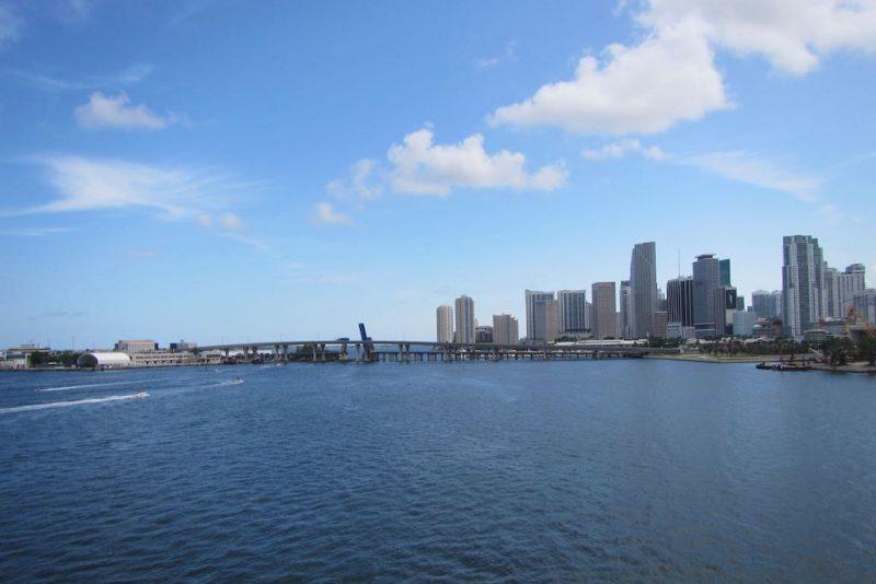 Miami und Miami Beach Sehenswürdigkeiten die Skyline von Miami Downtown