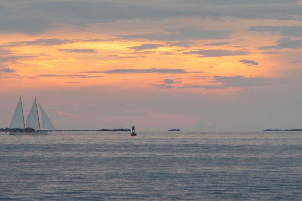 Key West Sehenswürdigkeiten Mallory Squre Sonnenuntergang